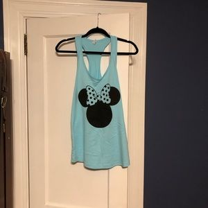 Tops - Blue Minnie Mouse tank top in a XL